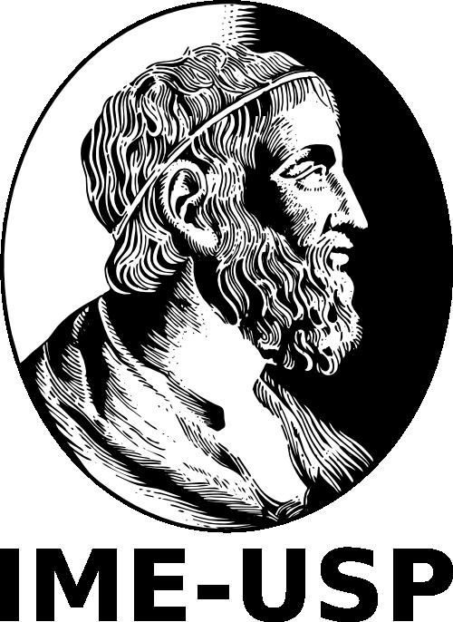 Logo do Instituto de Matemática e Estatística da USP (IME-USP). No brasão, identifica-se Arquimedes.